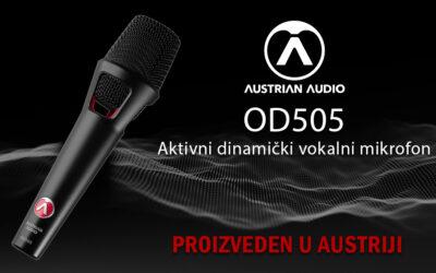 Noviteti | Austrian Audio OD505 | Aktivni dinamički vokalni mikrofon